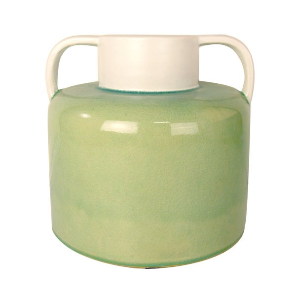 Creative Displays Green/ White Jug Style Container