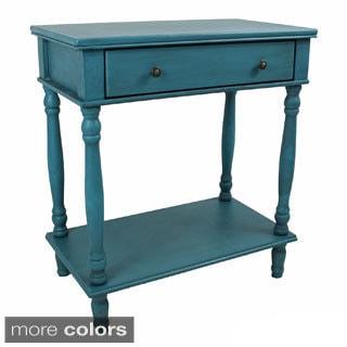 International Caravan Ashbury Wood Veneer One-drawer Console Table