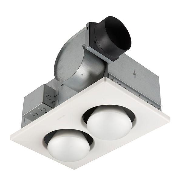 70 CFM Ceiling Exhaust Fan with 500 Watt 2-Bulb Infrared Heater