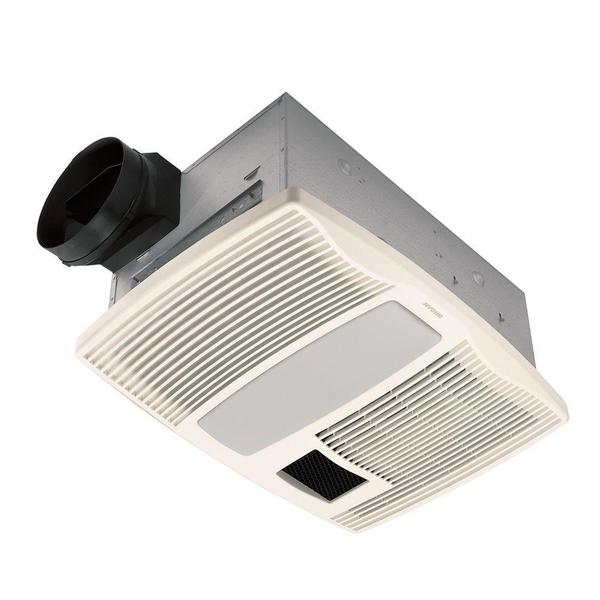 Ultra Silent 110 CFM Ceiling Bath Fan with Light and Heater