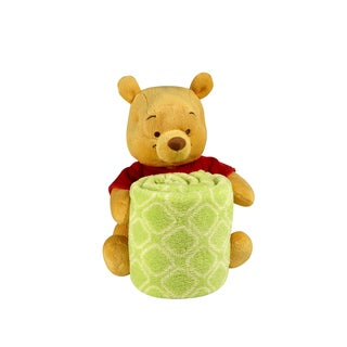 Disney Pooh Plush Character with Rolled Blanket