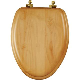 Natural Reflections Elongated Closed Front Oak Veneer Toilet Seat