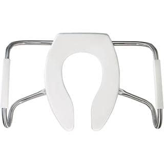 Medic-Aid STA-TITE Elongated Open Front White Toilet Seat