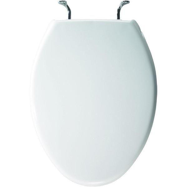 Case Elongated Closed Front White Toilet Seat