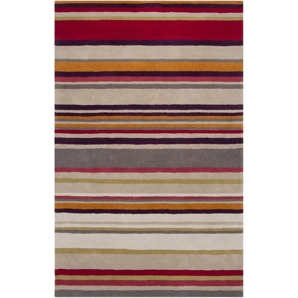 Harlequin : Hand-Tufted Joanna Stripe New Zealand Wool Rug (2' x 3')