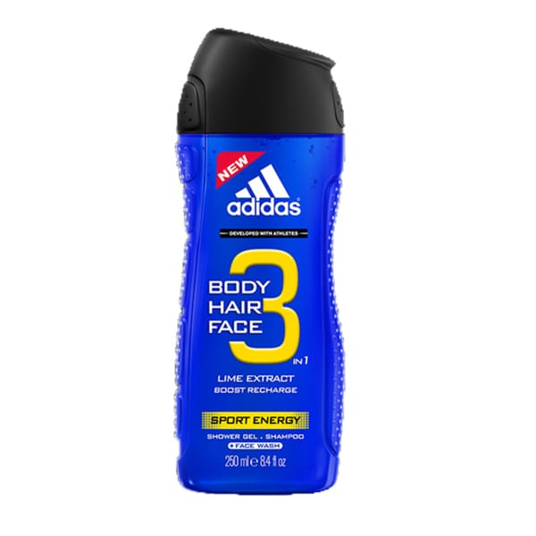 Adidas Sport Energy 3-in-1 Lime Extract Hair and Body Shower Gel