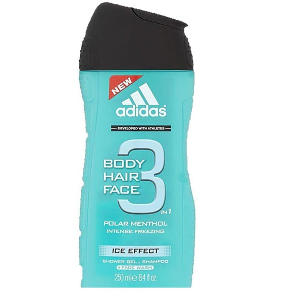 Adidas Ice Effect 3-in-1 Shower Gel Shampoo and Face Wash