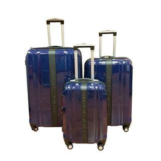 Chocolate New York Navy 3-piece Hardside Spinner Luggage Set