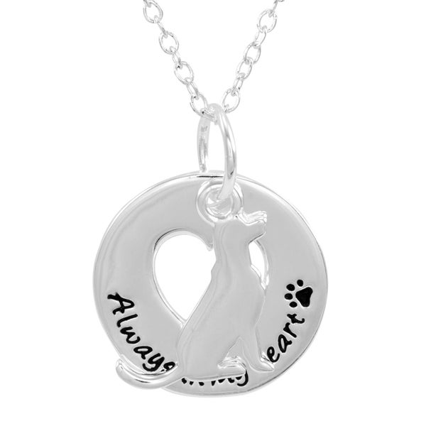 Silverplated Labrador Round Necklace