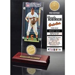 Brooks Robinson 'Hall of Fame' Ticket and Bronze Coin Acrylic Desk Top