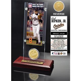 Cal Ripken Jr. 'Hall of Fame' Ticket and Bronze Coin Acrylic Desk Top