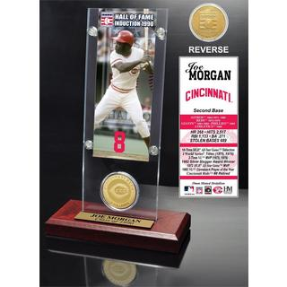 Joe Morgan 'Hall of Fame' Ticket and Bronze Coin Acrylic Desk Top