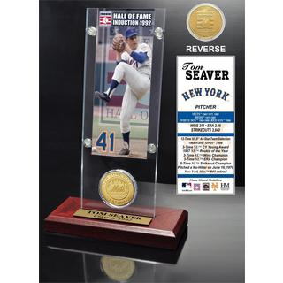 Tom Seaver 'Hall of Fame' Ticket and Bronze Coin Acrylic Desk Top