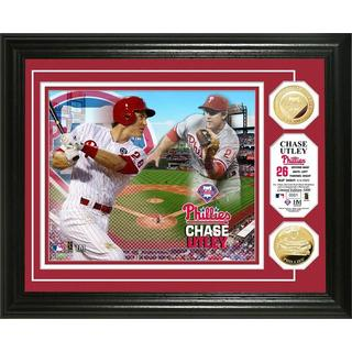 Chase Utley Gold Coin Photo Mint