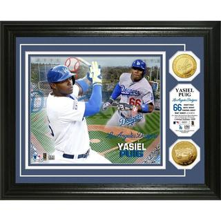 Yasiel Puig Gold Coin Photo Mint