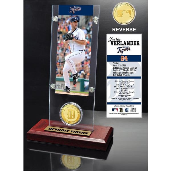 Justin Verlander Ticket and Bronze Coin Desk Top Acrylic