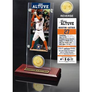 Jose Altuve Ticket and Bronze Coin Acrylic Desk Top