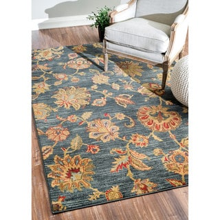 nuLOOM Fancy Contemporary Floral Rug (7'10 x 11')