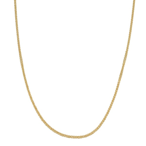 Fremada 10k Yellow Gold 1-mm Adjustable Wheat Chain Necklace (22 inches)