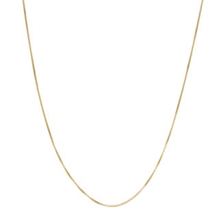 Fremada 18k Yellow Gold 0.55-mm Box Chain Necklace (16 - 20 inches)