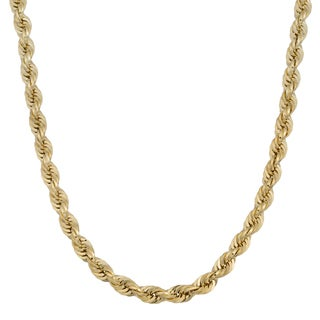 Fremada 14k Yellow Gold 4-mm Rope Chain Necklace (18 - 24 inches)