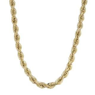 Fremada 14k Yellow Gold 4.9-mm Rope Chain Necklace (18 - 22 inches)