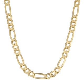 Fremada 14k Yellow Gold 5.8-mm Figaro Link Chain Necklace (20 - 24 inches)