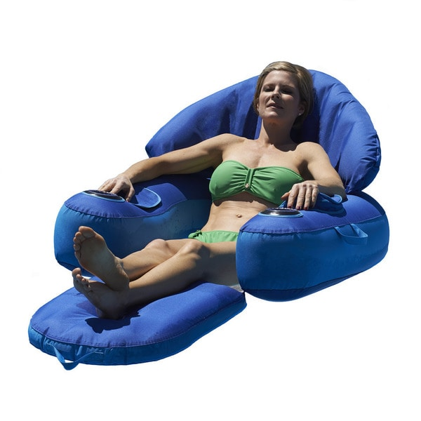 Leisure Cloud Fabric Covered Pool Lounger