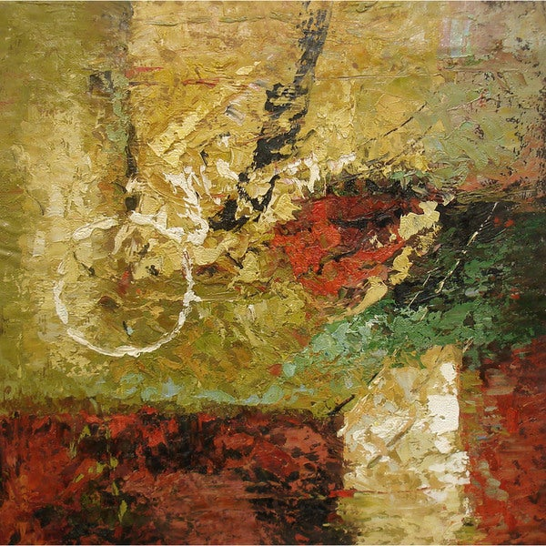 Contemporary Original Oil Painting of Abstract - Biking