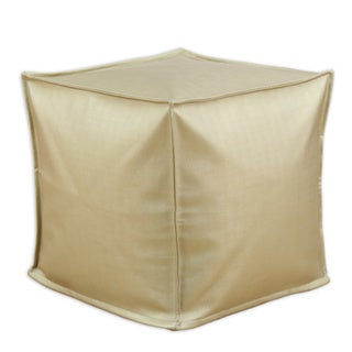 Somette Shimmer Gold Square Ottoman