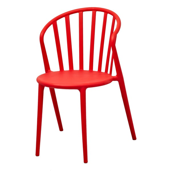 Stan Red Stackable Accent Chair (Set of 2)