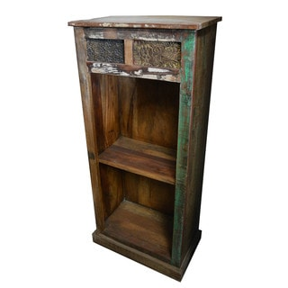 Vintage Print Block Small Bookcase