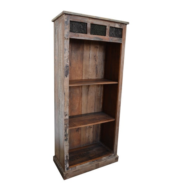 Vintage Print Block Medium Bookshelf