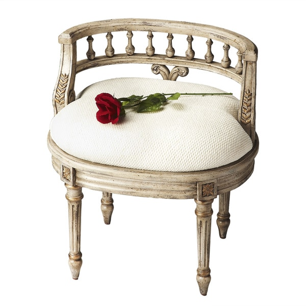 Guilded Cream Vanity Seat