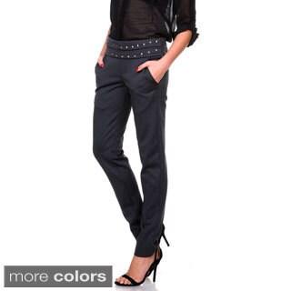 Stanzino Women's Studded Elastic-waist Casual Pants