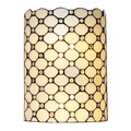 Amora Lighting Tiffany Style Double-light Jeweled Wall Lamp