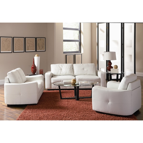 Jess Leather 3-piece Living Room Collection