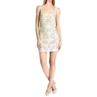 Needle & Thread Mint Spaghetti Strap Sequin Mini Cocktail Dress