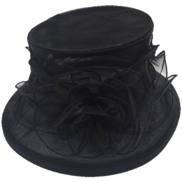 Women's Organza Flower Packable Hat