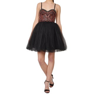 Alice + Olivia Audrie Embellished Bustier A-line Party Dress