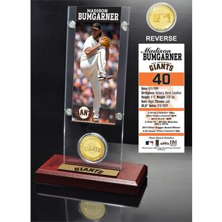 Madison Bumgarner Ticket and Bronze Coin Acrylic Desk Top