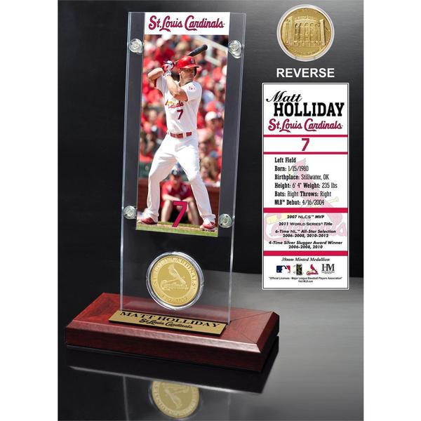 Matt Holliday Ticket and Bronze Coin Acrylic Desk Top