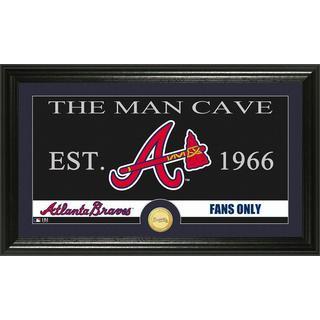Atlanta Braves The Man Cave Bronze Coin Panoramic Photo Mint