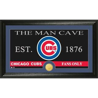 Chicago Cubs The Man Cave Bronze Coin Panoramic Photo Mint