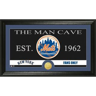 New York Mets The Man Cave Bronze Coin Panoramic Photo Mint