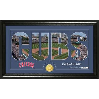 Chicago Cubs Silhouette Bronze Coin Panoramic Photo Mint