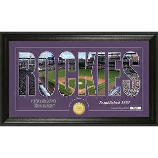 Colorado Rockies Silhouette Bronze Coin Panoramic Photo Mint