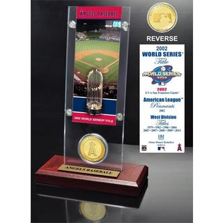 Los Angeles Angels World Series Ticket and Bronze Coin Acrylic Desktop