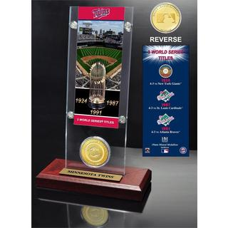 Minnesota Twins World Series Ticket and Bronze Coin Acrylic Desktop