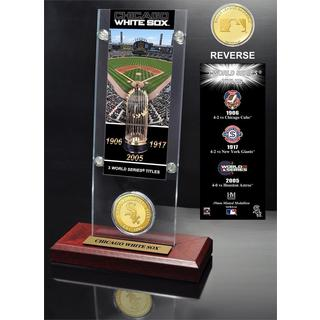 Chicago White Sox World Series Ticket and Bronze Coin Acrylic Desktop